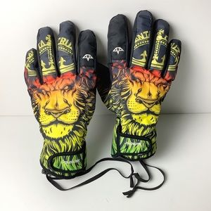 Santa Cruz & Celtek snowboard gloves. Rare.